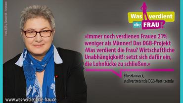 Elke Hannack vom DGB zum Tag der betrieblichen Entgeltgleichheit am 14. Oktober 2016