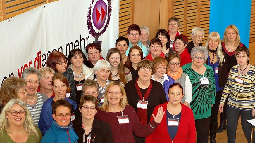 Der 2015 neugewählte Landesfrauenrat für Rheinland-Pfalz-Saarland.