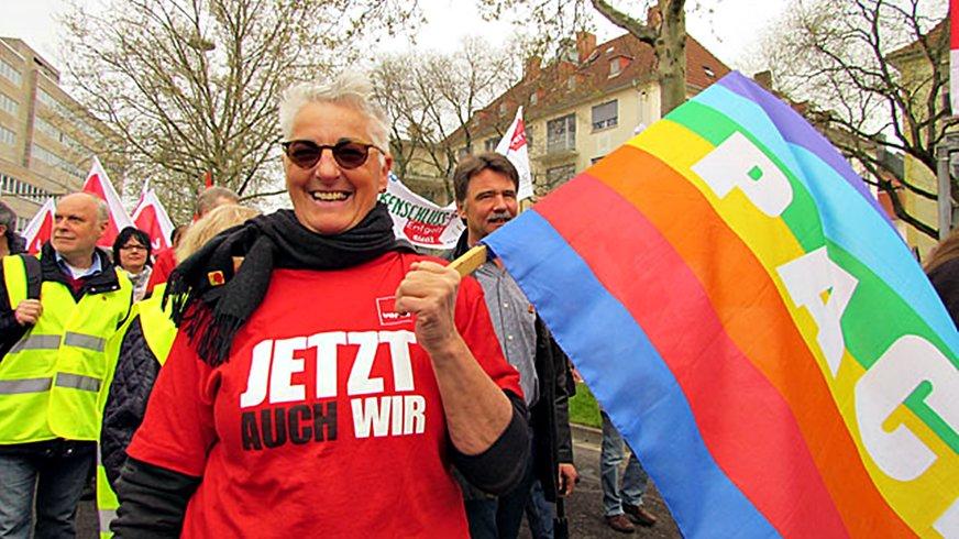 Aktion Bezirk 8. März Frauentag 2017 Saarbrücken Ehe für alle LGBT Diversity