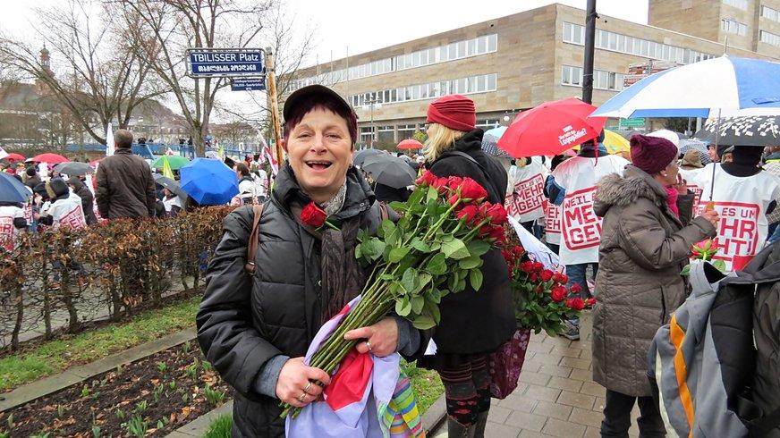 Aktion Bezirk 8. März Frauentag 2017 Saarbrücken