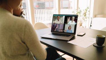 Online Meeting Video Konferenz Screen Bildschirm Team Corona
